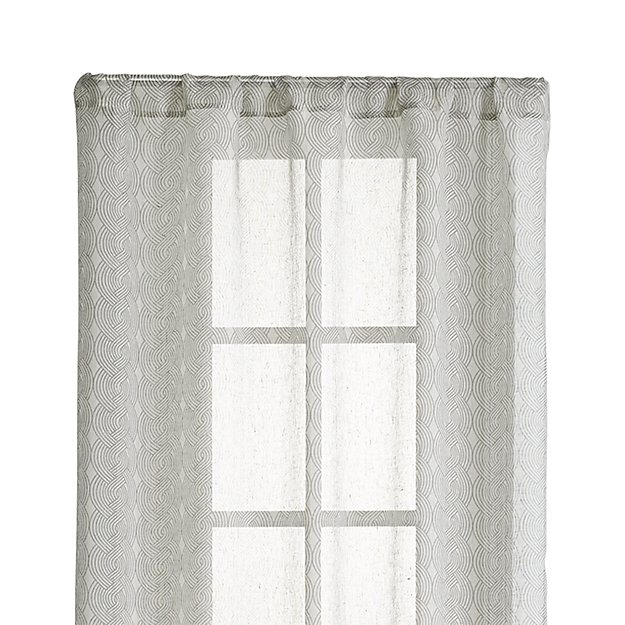 "Knots 48""X84"" Grey Sheer Curtain Panel"