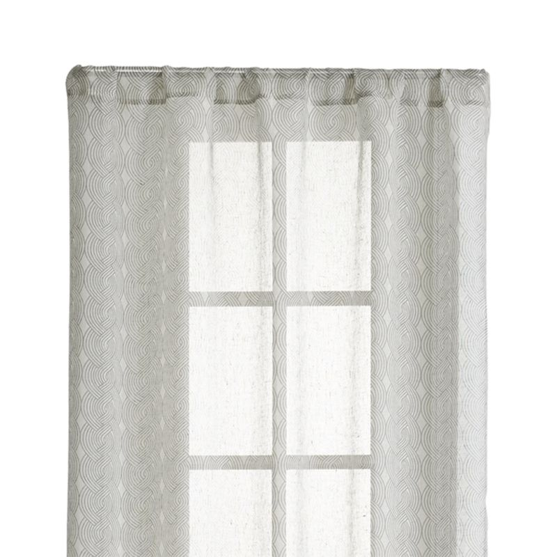 "Knots 48""X96"" Grey Sheer Curtain Panel"