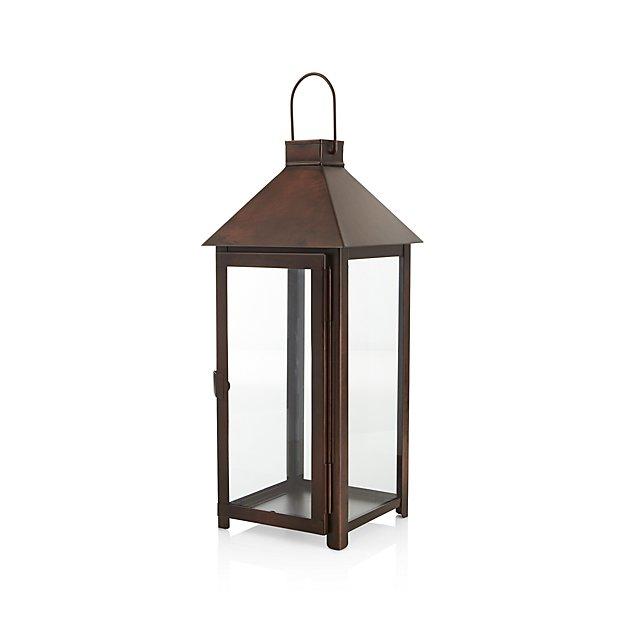 Knox Large Bronze Metal Lantern