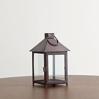 Knox Small Bronze Metal Lantern