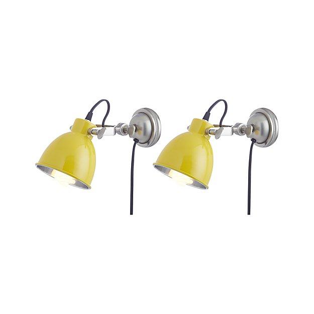 Set of 2 Knox Yellow Sconces