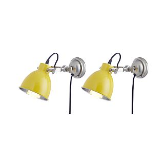Set of 2 Knox Yellow Sconces