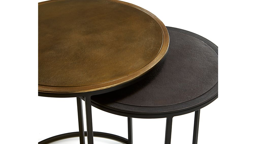 Knurl Nesting Accent Tables Set of Two