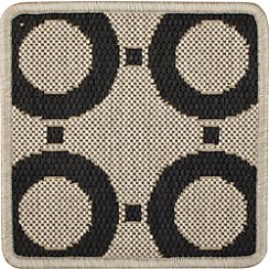 "Koen Circles Indoor-Outdoor 12"" sq, Rug Swatch"