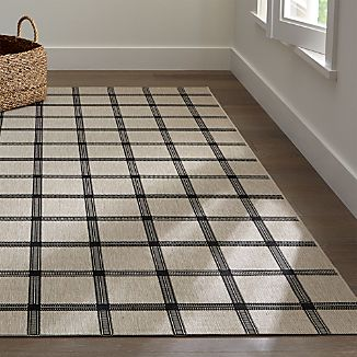 Koen Grid Black Indoor-Outdoor Rug