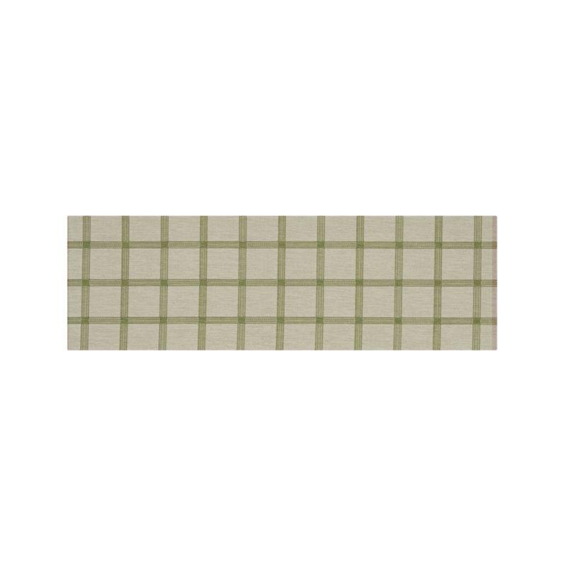 Koen Grid Green Indoor-Outdoor 2.5'x8' Rug Runner
