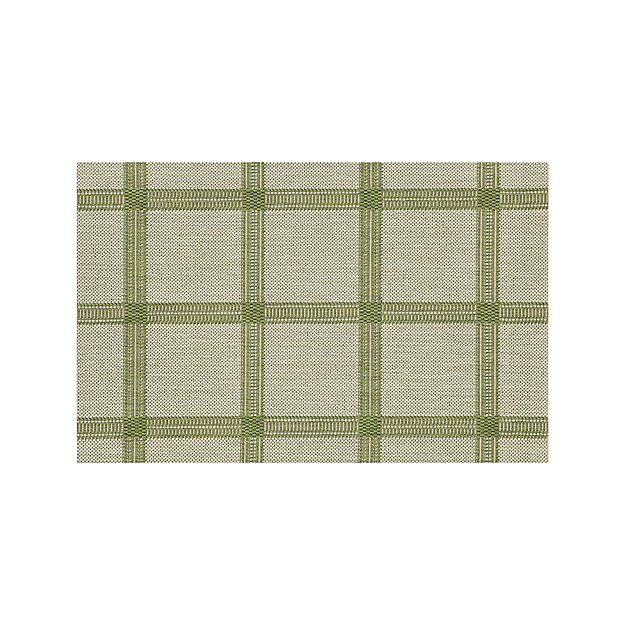 Koen Grid Green Indoor-Outdoor 2'x3' Rug