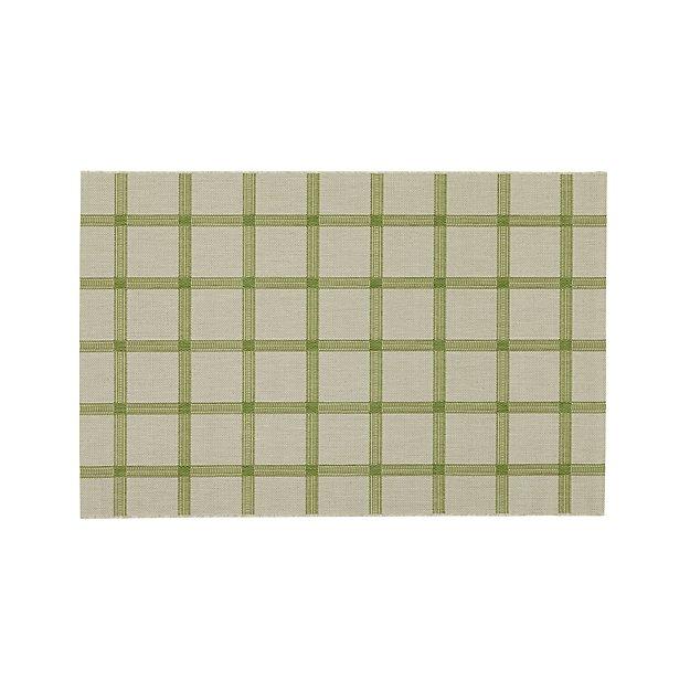 Koen Grid Green Indoor-Outdoor 4'x6' Rug