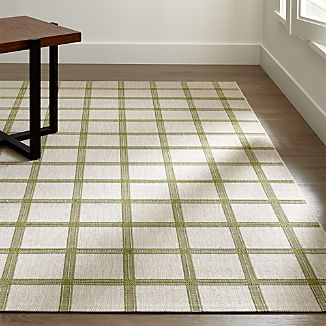 Koen Grid Green Indoor-Outdoor Rug