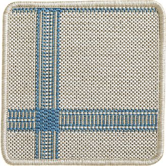 "Koen Grid Sky Indoor-Outdoor 12"" sq. Rug Swatch"