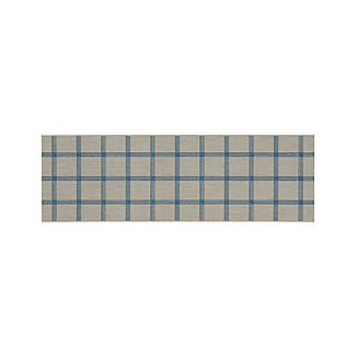 Koen Grid Sky Indoor-Outdoor 2.5'x8' Rug Runner