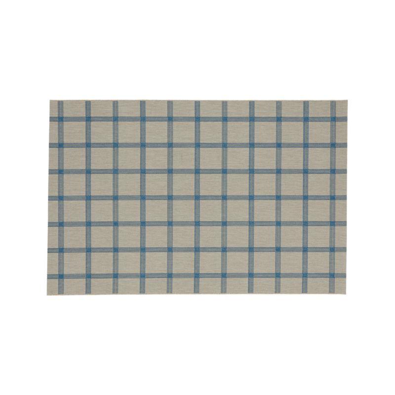 Koen Grid Sky Indoor-Outdoor 5'x8' Rug
