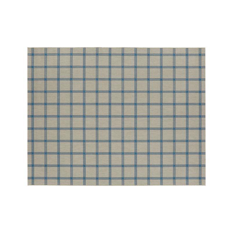 Koen Grid Sky Indoor-Outdoor 8'x10' Rug