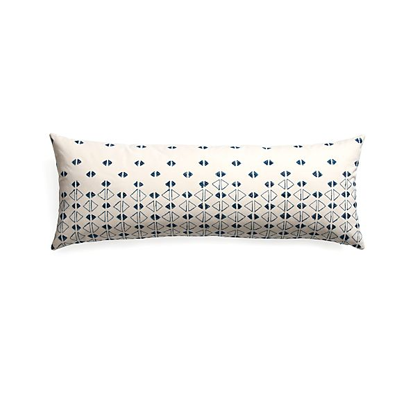 "Kofi 36""x14"" Pillow with Feather-Down Insert"