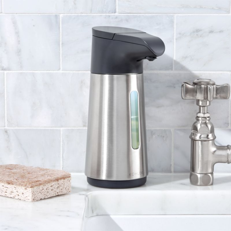 kohler © touchless foaming soap dispenser | crate and barrel
