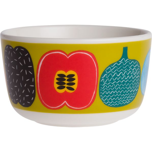 Marimekko Kompotti Green and Multi Bowl