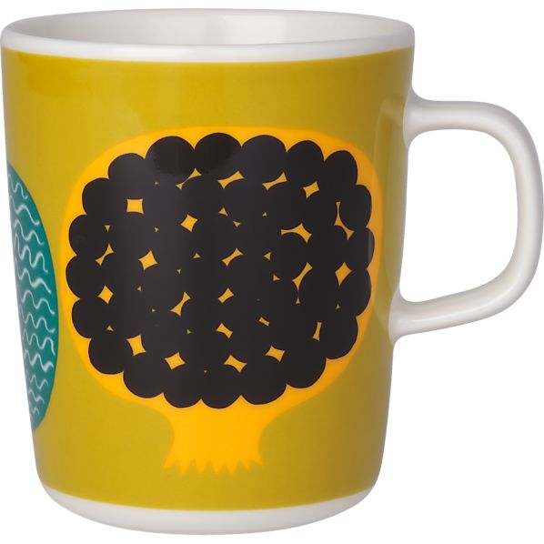 Marimekko Kompotti Green and Multi Mug