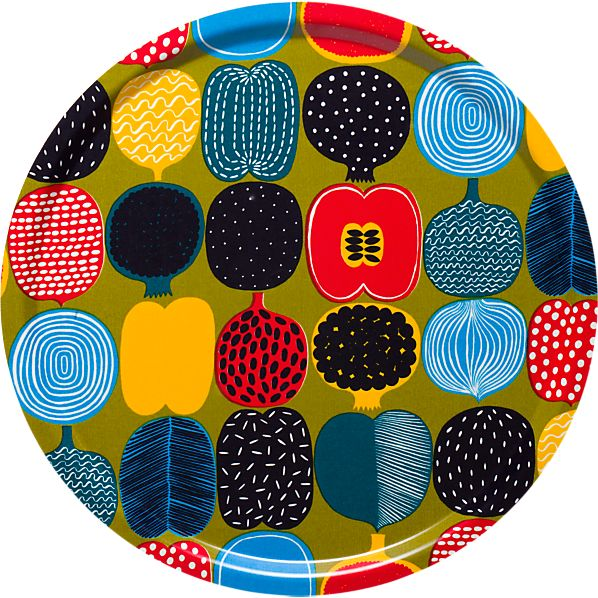 Marimekko Kompotti Green and Multi Tray