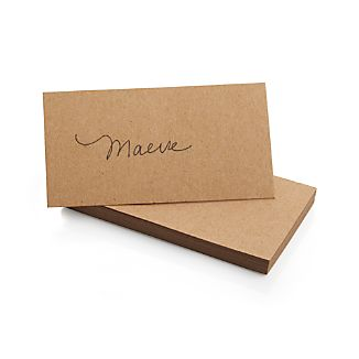 Set of 20 Kraft Paper Place Cards