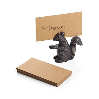 Squirrel Metal Place Card Holder