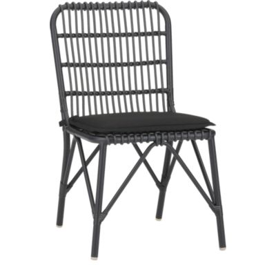 Kruger Black Dining Chair with Sunbrella® Black Cushion