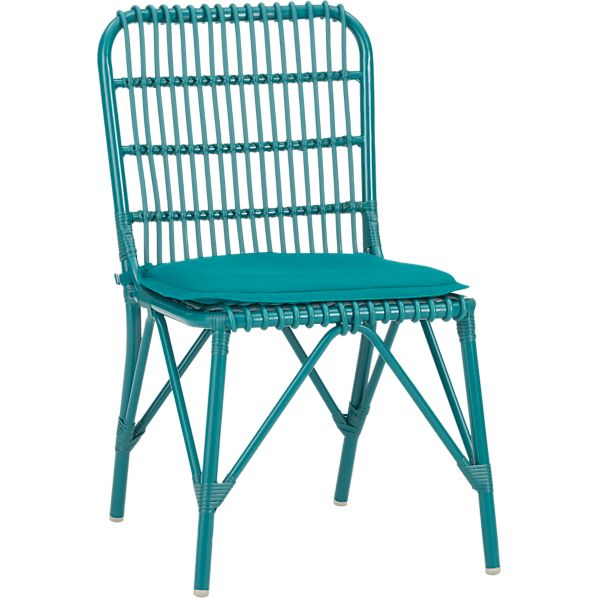 Kruger Harbor Blue Dining Chair with Sunbrella ® Harbor Blue Cushion