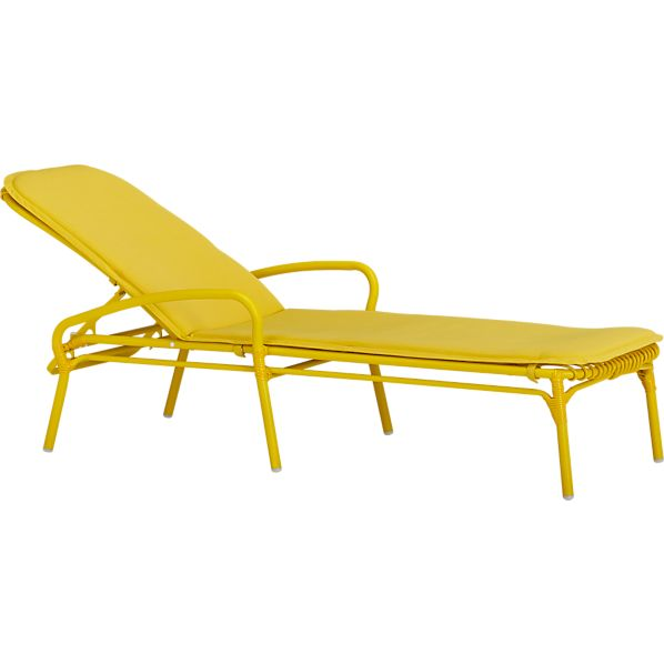 Kruger Sulfur Chaise Lounge Chair with Sunbrella ® Sulfur Cushion