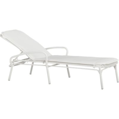 Kruger White Chaise Lounge Chair with Sunbrella® White Cushion