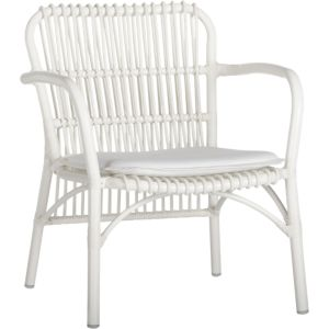 Kruger White Lounge Chair with Sunbrella® White Cushion