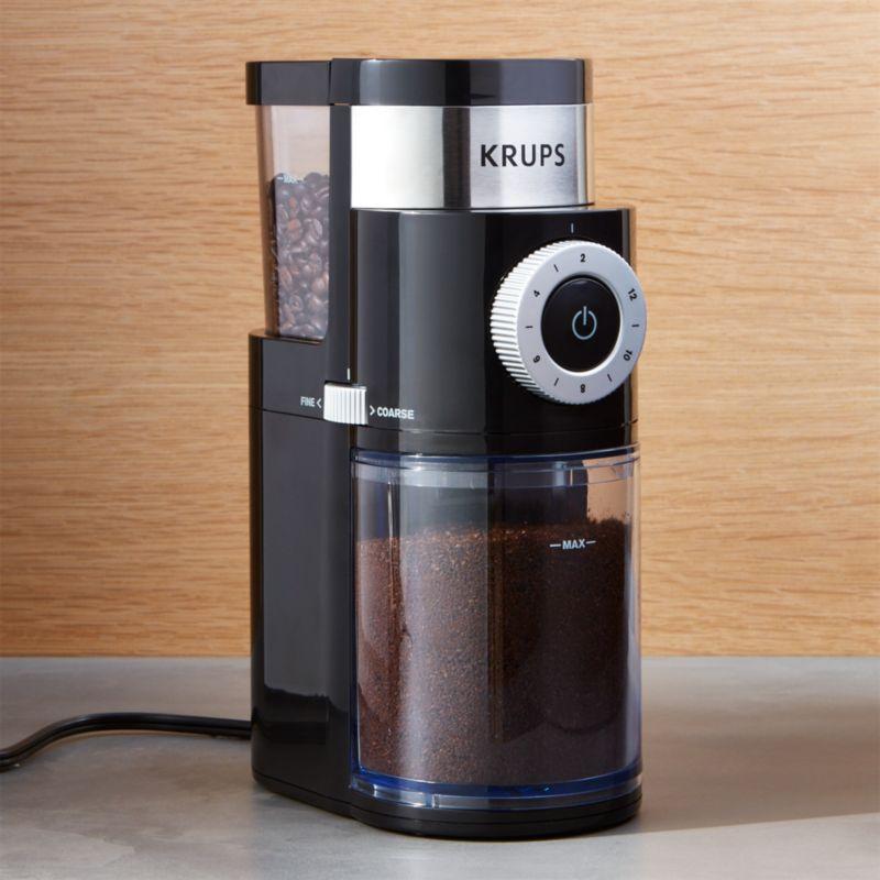 Krups Coffee Grinder ~ Krups burr coffee grinder crate and barrel
