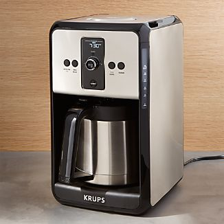 Krups Savoy Turbo 12-Cup Stainless Steel Coffee Maker with Thermal Carafe