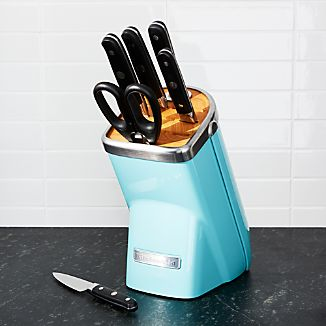 KitchenAid ® Professional Series 7-Piece Knife Block Set Aqua Sky