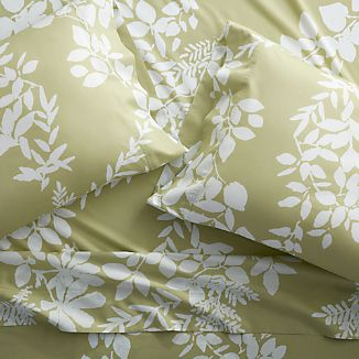 Marimekko Kukkula Green Sheets and Pillow Cases