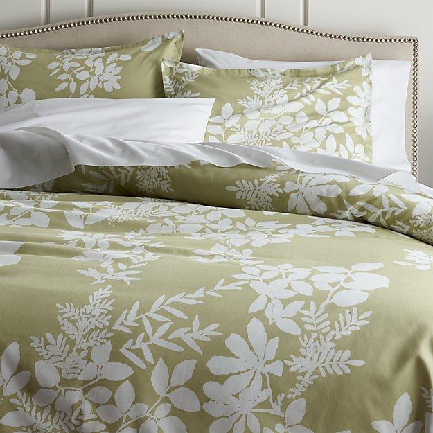 Marimekko Kukkula Green Duvet Covers and Pillow Shams