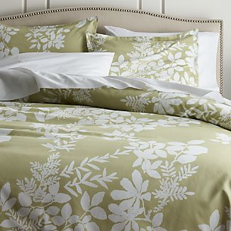 Marimekko Kukkula Green Duvet Covers and Pillow Shams