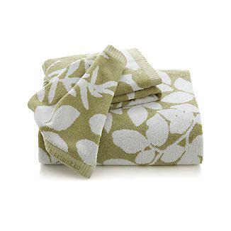 Marimekko Kukkula Green Bath Towels
