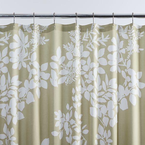 Marimekko Kukkula Green Shower Curtain In Shower Curtains Rings Crate And Barrel