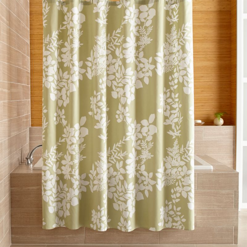 Marimekko Kukkula Green Shower Curtain