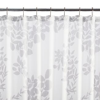 Kukkula Grey Shower Curtain