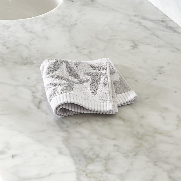 Kukkula Grey Washcloth