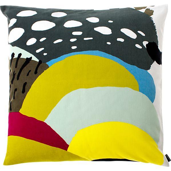 "Marimekko Kurpitsa Green 20"" Pillow"