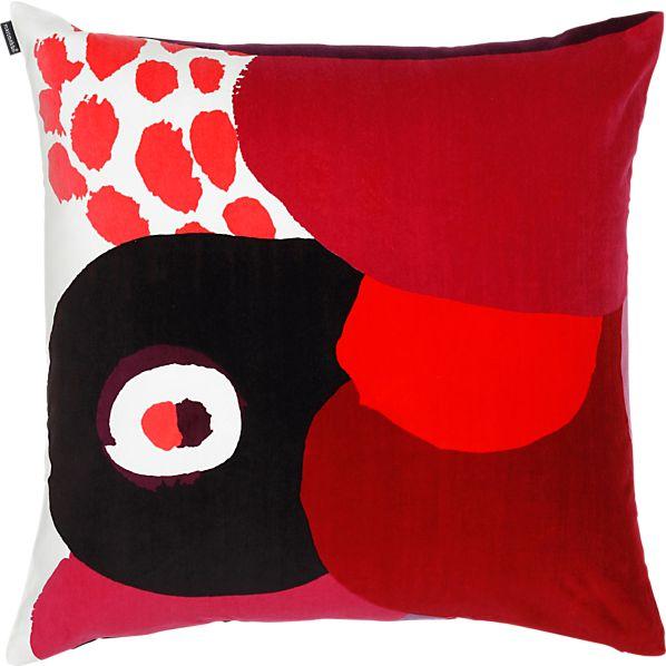 "Marimekko Kurpitsa Red 20"" Pillow"