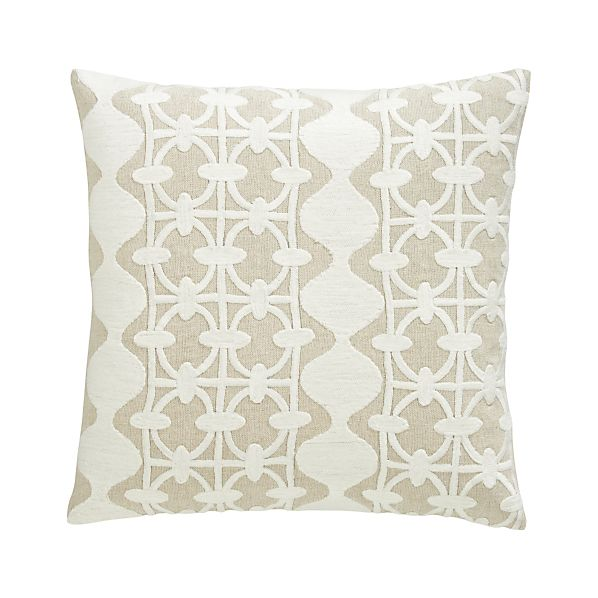 "Lacey 23"" Pillow with Feather-Down Insert"