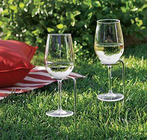 Set of 2 Steady Stick Wine Glass Holders