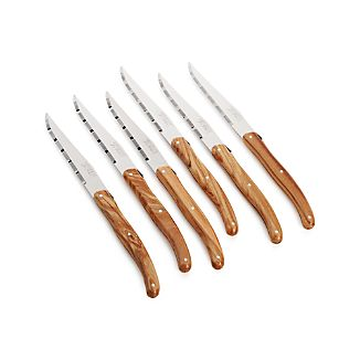 Laguiole ® Olivewood Steak Knives Set of 6