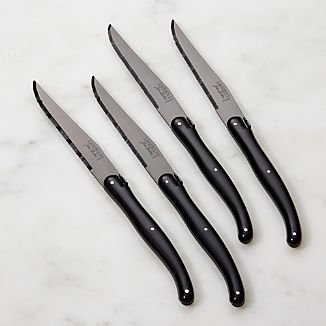 Laguiole ® Black Steak Knives Set of Four