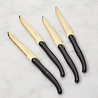 Laguiole ® Gold Steak Knives Set of Four