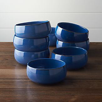 Set of 8 Lake Bowls