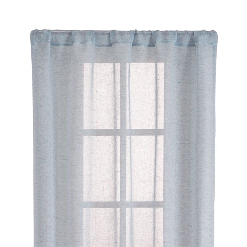 "Lakeside 52""x96"" Blue Sheer Curtain Panel"