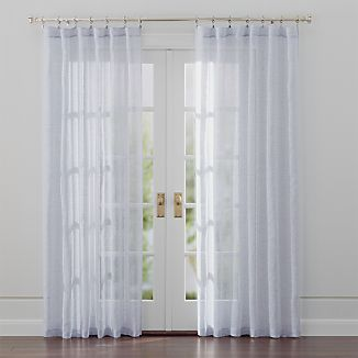 Lakeside Blue Sheer Curtains